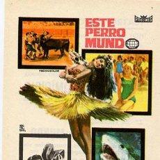 Cine: ESTE PERRO MUNDO PROGRAMA SENCILLO PROCINES DOCUMENTAL ITALIANO A. Lote 4796785