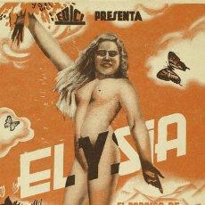 Cine: ELYSIA EL PARAISO DE LOS NUDISTAS PROGRAMA TARJETA EDICI NUDISMO. Lote 10815066
