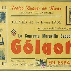 Cine: GOLGOTA PROGRAMA LOCAL GIGANTE JEAN GABIN. Lote 4849494