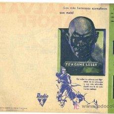 Cine: EL MALVADO ZAROFF, DOBLE , IMPECABLE, AÑOS 30 PMD. Lote 148160897