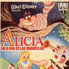 Cine: WALT DISNEY - ALICIA EN EL PAIS DE LAS MARAVILLAS . Lote 4982637
