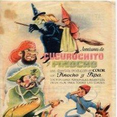 Cine: CUCURUCHITO Y PINOCHO , SENCILLO , PM7887. Lote 5069786