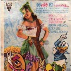 Cine: WALT DISNEY - DONALD DUCK - LOS TRES CABALLEROS. Lote 5187494