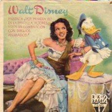 Cine: WALT DISNEY - DONALD DUCK - LOS TRES CABALLEROS. Lote 5187497