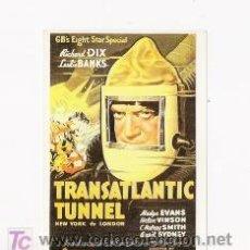 Cine: TUNEL TRANSATLANTIC, PROGRAMA DE MANO MODERNO, RICHARD DIX. Lote 162762458