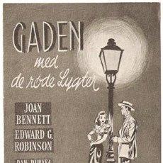 Cine: PERVERSIDAD PROGRAMA LIBRITO DANES JOAN BENNETT EDWARD G. ROBINSON FRITZ LANG. Lote 5321817