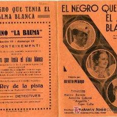 Cine: PROGRAMA DE CINE DOBLE C/P. EL NEGRO QUE TENIA EL ALMA BLANCA. Lote 5397629