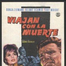 Cine: P-0225- VIAJAN CON LA MUERTE (JOURNEY INTO NOWHERE) SONJA ZIEMANN - HELMUT SCHMID - TONY WRIGHT. Lote 109894010