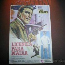 Cine: LICENCIA PARA MATAR. TOM ADAMS. Lote 5785017