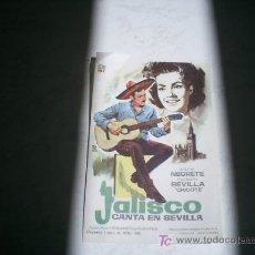 Cine: JALISCO CANTA EN SEVILLA. JORGE NEGRETE. CARMEN SEVILLA.DIBUJO DE MONTALBAN. Lote 5788749