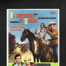 Folhetos de mão de filmes antigos de cinema: EL JUSTICIERO DE KANSAS (WESTERN). Lote 5835204
