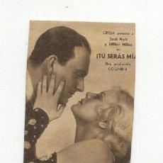 Cine: TU SERAS MIA. Lote 26786009