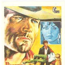 Cine: EL HOMBRE EL ORGULLO Y LA VENGANZA PROGRAMA SENCILLO HISPAMEX FRANCO NERO SPAGHETTI WESTERN. Lote 27757211