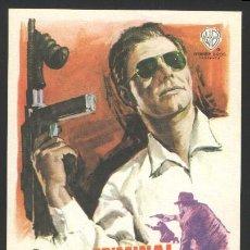Cine: P-7934- CRIMINAL ACORRALADO (F.B.I.) (FBI CODE 98) JACK KELLY - RAY DANTON - ANDREW DUGGAN. Lote 262754625
