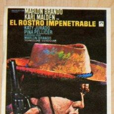 Cine: PROGRAMA DE MANO ORIGINAL Y ANTIGUO:EL ROSTRO IMPENETRABLE, CON MARLON BRANDO Y KARL MALDEN. Lote 6387885