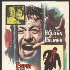 Cine: P-0834- ESPIA POR MANDATO (THE COUNTERFEIT TRAITOR) (CINES BOHEMIO Y GALILEO) WILLIAM HOLDEN. Lote 19330093