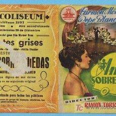 Cine: AMOR SOBRE RUEDAS. DOBLE. CINE COLISEUM (TARRAGONA) CARMEN MORELL, PEPE BLANCO. Lote 23193453