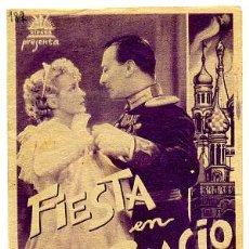 Cine: FIESTA EN PALACIO , DOBLE , S1178. Lote 10790813