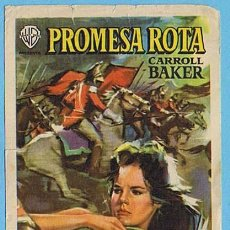 Cine: PROMESA ROTA. TEATRO APOLO Y CINEMA VALLS 1961. CARROLL BAKER, ROGER MOORE, VITTORIO GASSMAN. Lote 204790060