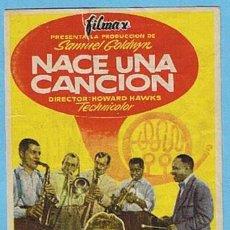 Cine: NACE UNA CANCIÓN. CINE MODERNO TARRAGONA 1957. DANNY KAYE, VIRGINIA MAYO. WOWARD HAWKS. Lote 204790033