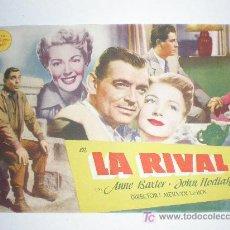 Flyers Publicitaires de films Anciens: LA RIVAL. CLARK GABLE, LANA TURNER, ANNE BAXTER, JOHN HODIAK. AZUL CINEMA (GUARDAMAR - ALICANTE). Lote 181474210