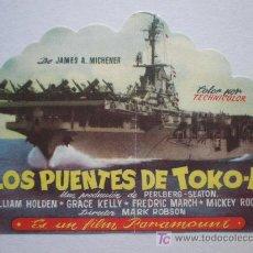 Cine: LOS PUENTES DE TOKO-RI. DIRECTOR: MARK ROBSON. GRACE KELLY, MICKEY ROONEY. Lote 12141738