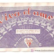 Cine: VIVA EL AMOR PROGRAMA TARJETA RKO ANN SOTHERN GENE RAYMOND. Lote 14183498