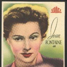 Cine: P-0355- EL RAPTO DE LAURA (MAID'S NIGHT OUT) JOAN FONTAINE - ALLAN LANE - BILLY GILBERT. Lote 21997183