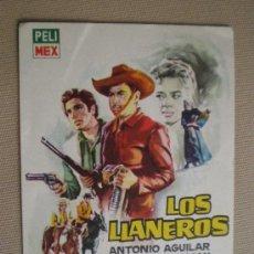 Cine: LOS LLANEROS. ANTONIO AGUILAR, JULIO ALEMAN Y PATRICIA CONDE. Lote 6771634