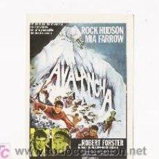 Cine: AVALANCHA, PROGRAMA DE MANO MODERNO, ROCK HUDSON Y MIA FARROW. Lote 162762705