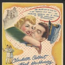 Cine: P-1482- BODAS BLANCAS (PRACTICALLY YOURS) CLAUDETTE COLBERT - FRED MACMURRAY - GIL LAMB. Lote 19735783
