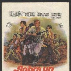 Cine: P-6712- SOBRA UN HOMBRE (UN HOMME DE TROP) (TEATRO REGIO - YECLA) CHARLES VANEL - BRUNO CREMER. Lote 261606745