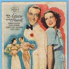 Cine: LA NUEVA MELODÍA DE BROADWAY. CINE KURSAAL MONTBLANCH 1944. FRED ASTAIRE, ELEANOR POWELL. Lote 7008688