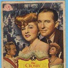 Cine: EL VALS DEL EMPERADOR. CINE ASTORIA - FEMINA. BING CROSBY, JOAN FONTAINE. Lote 7018439