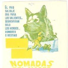Cine: NOMADAS DEL NORTE NIKKI PROGRAMA SENCILLO CHAMARTIN WALT DISNEY B. Lote 7039712