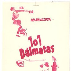 Cine: 101 DALMATAS PROGRAMA SENCILLO CHAMARTIN WALT DISNEY D. Lote 7043985