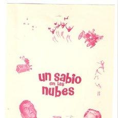 Cine: UN SABIO EN LAS NUBES PROGRAMA SENCILLO CHAMARTIN FRED MACMURRAY BALONCESTO WALT DISNEY D. Lote 7115022