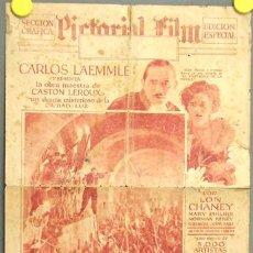 Cine: D EL FANTASMA DE LA OPERA PROGRAMA DOBLE GRANDE PERIODICO ESPAÑOL USA LON CHANEY EN ESPAÑOL. Lote 10785162