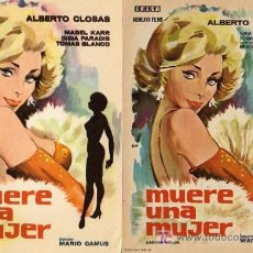 Cine: VARIACION - DOS PROGRAMAS - MUERE UNA MUJER - EL CENSURADO Y EL OTRO.. Lote 121516655
