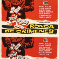 Cinema - VARIACION - DOS PROGRAMAS - RONDA DE CRIMENES - SINFONIA PARA UNA MASACRE - MICHEL AUCLAIR - 7236726