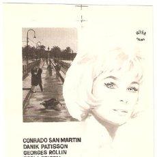 Cine: LA MUERTE SILBA UN BLUES PROGRAMA SENCILLO ROSA CINE ESPAÑOL JESUS FRANCO CONRADO SAN MARTIN B. Lote 7262076