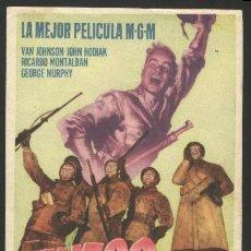 Cine: P-4529- FUEGO EN LA NIEVE (BATTLEGROUND) (TAMPON CINE GARRIDO - MINGLANILLA) VAN JOHNSON. Lote 21124993