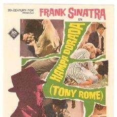 Cine: HAMPA DORADA PROGRAMA SENCILLO RADIO FOX FRANK SINATRA. Lote 7457589