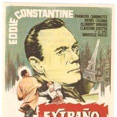 Cine: EXTRAÑO TESTIGO PROGRAMA SENCILLO CEPICSA EDDIE CONSTANTINE. Lote 7470769
