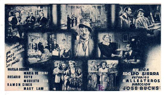 Cine: El Ilustre Perea. Dir. Jose Buchs. Año 1943. - Foto 2 - 27096596