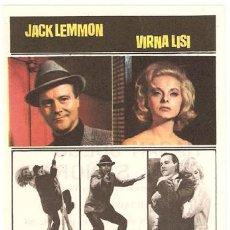 Cine: COMO MATAR A LA PROPIA ESPOSA PROGRAMA SENCILLO FILMAYER JACK LEMMON VIRNA LISI. Lote 7641686