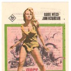 Folhetos de mão de filmes antigos de cinema: HACE UN MILLON DE AÑOS PROGRAMA SENCILLO FOX RAQUEL WELCH HAMMER. Lote 10843705