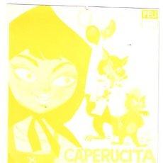 Cine: CAPERUCITA Y SUS TRES AMIGOS PROGRAMA SENCILLO PELIMEX MARIA GRACIA MANUEL VALDES B. Lote 7727074