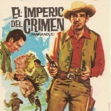 Cine: EL IMPERIO DEL CRIMEN OESTE. Lote 27570535
