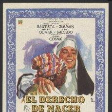 Cine: P-7583- EL DERECHO DE NACER (AURORA BAUTISTA - JULIO ALEMÁN - MARICRUZ OLIVIER - AUGUSTO BENEDICO). Lote 21997213